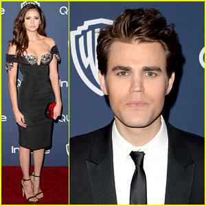 Nina Dobrev & Paul Wesley - InStyle Golden Globes Party 2014