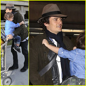 Orlando Bloom Brings Flynn to Los Angeles After His 3rd Bday!