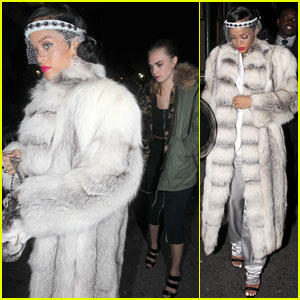 Rihanna Rings in the New Year with Cara Delevingne in NYC