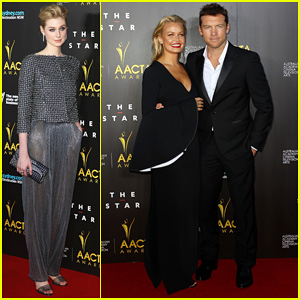 Sam Worthington & Lara Bingle - AACTA Awards Ceremony 2014 Red Carpet