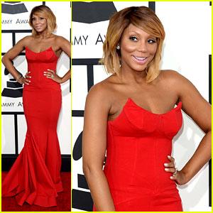 Tamar Braxton Grammys 2014 Red Carpet 2014 Grammys