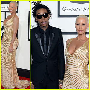 Wiz Khalifa & Amber Rose - Grammys 2014 Red Carpet