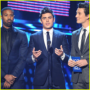Zac Efron & Michael B. Jordan - People's Choice Awards 2014!