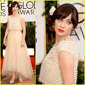 Zooey Deschanel - Golden Globes 2014 Red Carpet