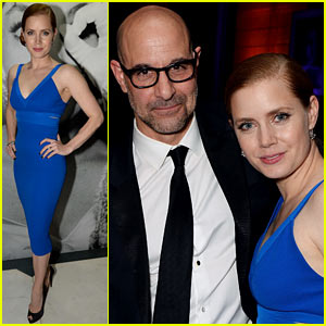 Amy Adams Wows in Blue for Weinstein's BAFTAs 2014 After Party