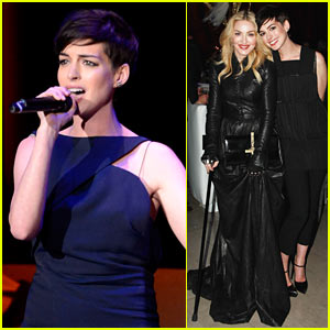 Anne Hathaway & Madonna Pose Together at Great American Songbook Gala!