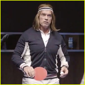 Arnold Schwarzenegger Plays Ping Pong for Bud Light Super Bowl Commercial 2014 (Video)