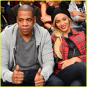 Beyonce & Jay Z: Brooklyn Nets Game with Super Bowl Champion Russell Wilson!