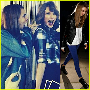 Cara Delevingne Looks Shocked Over Taylor Swift's New Haircut!