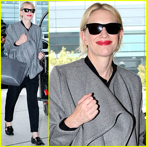 Cate Blanchett Departs Sydney En Route to the Oscars 2014!