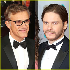 Christoph Waltz & Daniel Bruhl - BAFTAs 2014 Red Carpet