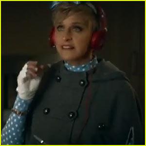 Ellen DeGeneres Dances for Beats Audio's Super Bowl 2014 Commercial (Video)