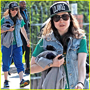 Ellen Page Looks Comfy & Cool While Leaving the Gym