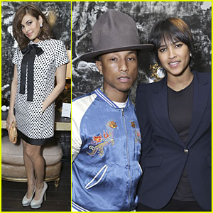 Eva Mendes & Pharrell Williams: Elizabeth Taylor Tribute Dinner!