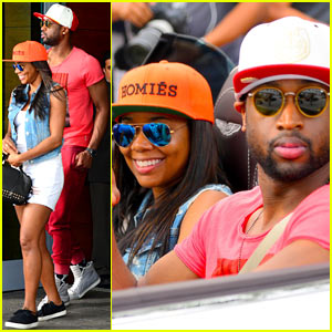 Gabrielle Union & Dwyane Wade Cruise Around with the Top Down in Miami!
