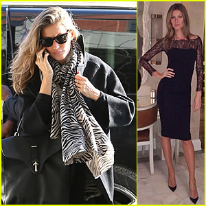 Gisele Bundchen Helps Launch Carolina Herrera Fragrance!