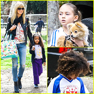 Heidi Klum: Soccer Mom at Leni & Johan's Saturday Game!