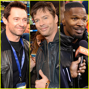 Hugh Jackman & Harry Connick, Jr. Join In on the Super Bowl 2014 Fun!