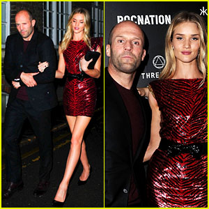 Jason Statham Joins Rosie Huntington-Whiteley at BRITs Party!