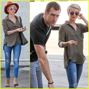 Julianne Hough Drops Off New Boyfriend Brooks Laich at LAX!