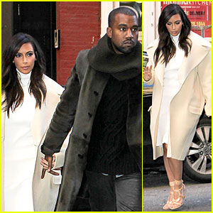 Kim Kardashian & Kanye West Hold Hands at ABC Kitchen!