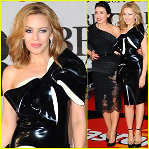 Kylie Minogue: BRIT Awards 2014 with Sister Dannii Minogue!