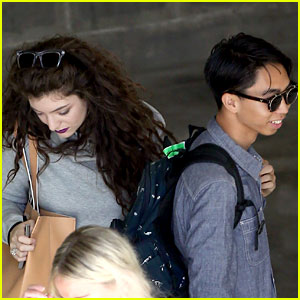 Lorde Takes Boyfriend James Lowe Along for Studio Stop