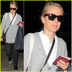 Naomi Watts: Back Home After Quick Trip to Milan!