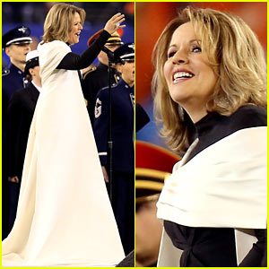 Opera Singer Renee Fleming Sings the National Anthem at Super Bowl 2014 (Video) - Watch Now!