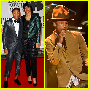Pharrell Williams Performs 'Happy' at BRIT Awards 2014 (Video)