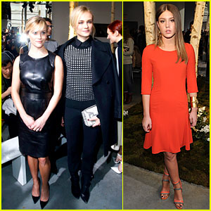Reese Witherspoon & Diane Kruger Sit Front Row at Boss Show!