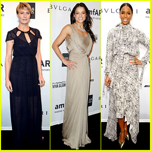 Robin Wright & Michelle Rodriguez: amfAR New York Gala!