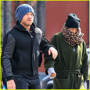 Sam Worthington Strolls Big Apple with Bundled Up Lara Bingle