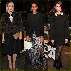 Sarah Paulson & Solange Knowles Stay Chic at Honor's Fashion Week Show!