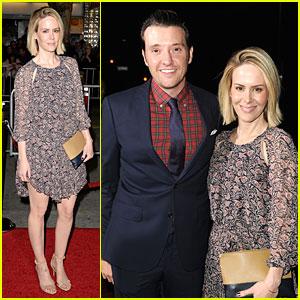 Sarah Paulson Supports Jason Butler Harner at 'Non-Stop' Premiere!
