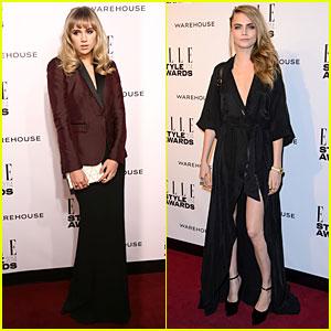 Suki Waterhouse & Cara Delevingne: Stunning Models at Elle Style Awards 2014!