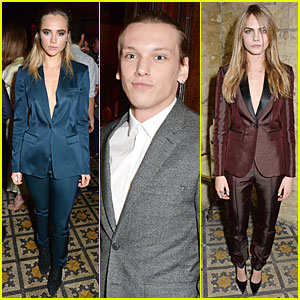Suki Waterhouse & Cara Delevingne Suit Up at BAFTA Nominee Dinner!