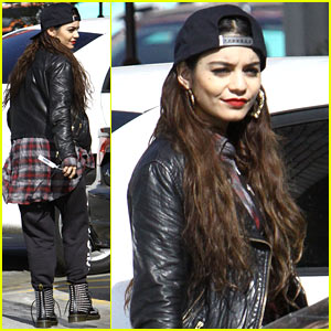 Vanessa Hudgens Wears Rocker Chic Outfit for Sunday Coffee
