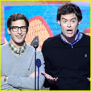 Andy Samberg & Bill Hader: Expressive Presenters at Independent Spirits Awards!