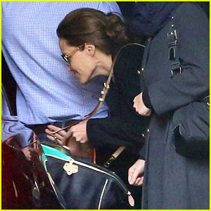 Angelina Jolie Ducks Into Her Car After Quick Trip in London