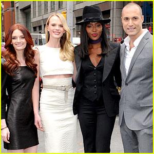Anne V, Lydia Hearst, & Naomi Campbell Ring NASDAQ's Closing Bell