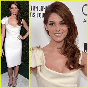 Ashley Greene Watches the Oscars 2014 in Style at Elton John Viewing Party!