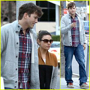 Ashton Kutcher & Mila Kunis Grab Dinner as Newly Engaged Couple!