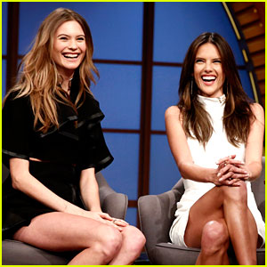 Behati Prinsloo & Alessandra Ambrosio Have a Model Moment on 'Late Night with Seth Meyers'!
