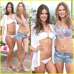 Behati Prinsloo & Alessandra Ambrosio Aren't Afraid to Show Off Their Toned Bods for Victoria's Secret!