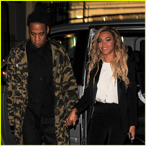 Beyonce & Jay Z Hold Hands After Mrs. Carter Show in London