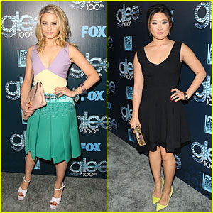 Dianna Agron & Jenna Ushkowitz Celebrate Glee's 100th Episode!
