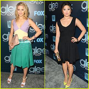 Dianna Agron & Jenna Ushkowitz Celebrate Glee's 100th Episode!