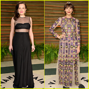 Elisabeth Moss & Rashida Jones - Vanity Fair Oscar Party 2014
