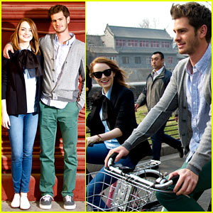Emma Stone & Andrew Garfield Start Asia Press Tour, Continue Being Such a Cute Couple!